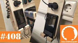 Der Stöpselkopf #411 DIY Charging Dock - Wooden Phone Charger Stand